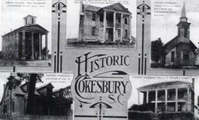 Historic Cokesbury S.C. Lithograph image. Click for full size.