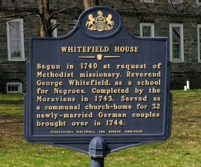 Whitefield House Marker image. Click for full size.