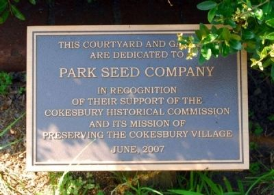 Parks Seed Dedication image. Click for full size.