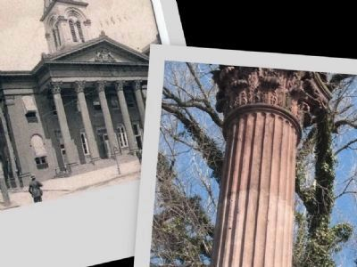 Old Dauphin County Courthouse Columns image. Click for full size.