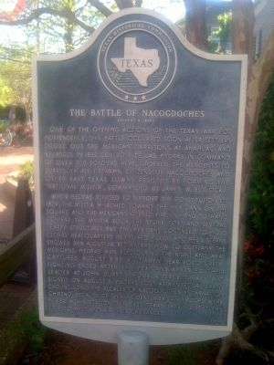 Battle of Nacogdoches Marker image. Click for full size.