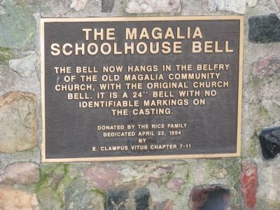 Lower Marker - The Magalia Schoolhouse Bell image. Click for full size.
