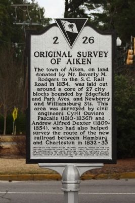 Original Survey of Aiken Marker image. Click for full size.