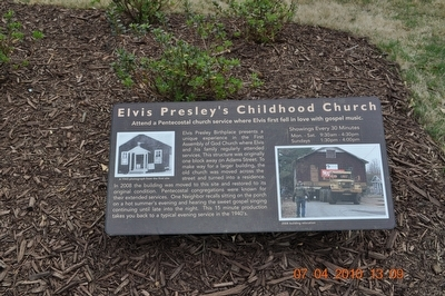 Elvis Presley's Childhood Church Photo, Click for full size