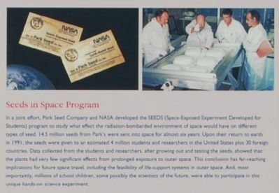Park�s -<br>Seeds in Space Program image. Click for full size.
