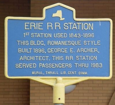 Erie RR Station Marker Photo, Click for full size