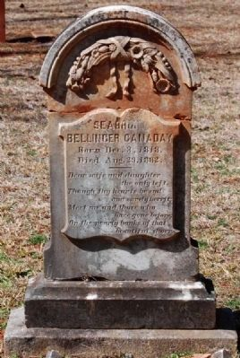 Seabrown Bellinger Canaday<br>(1813-1832) Tombstone image. Click for full size.