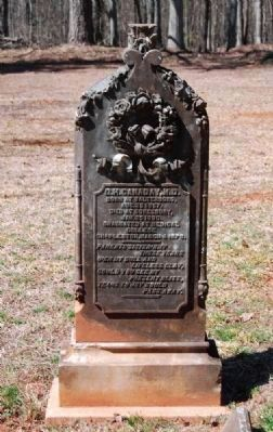 D.H. Canaday, M.D. (1857-1880) Tombstone image. Click for full size.