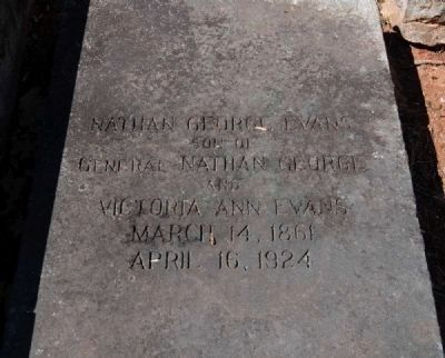 Nathan George Evans (1861-1924) Tombstone image. Click for full size.