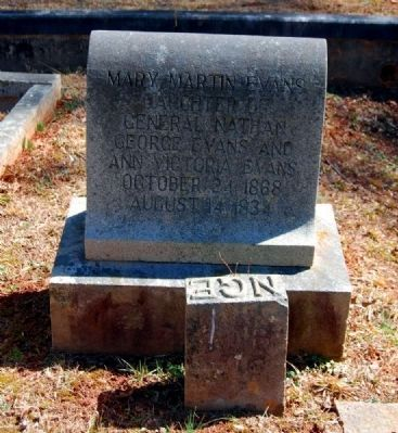 Mary Martin Evans (1868-1834) Tombstone image. Click for full size.