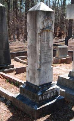 John Hilary Gary (1840-1863) Tombstone image. Click for full size.