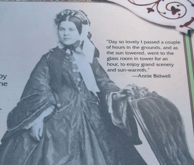 Annie Bidwell image. Click for full size.