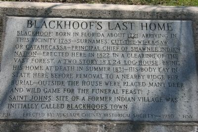 Blackhoof's Last Home Marker image. Click for full size.