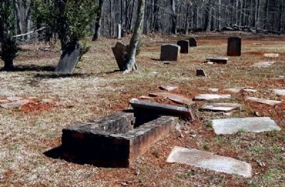 Tabernacle Cemetery -<br>Damaged and Fallen Tombstones image. Click for full size.