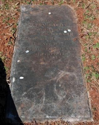 Mary Bacot (1832-1843) Tombstone image. Click for full size.