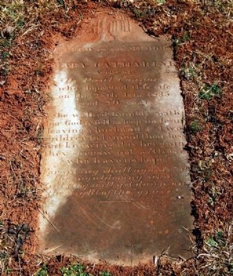Mary Catherine Connor (1815-1835)<br>Tombstone image. Click for full size.