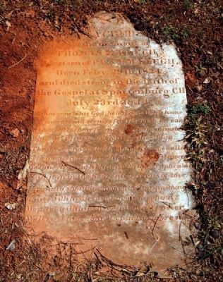 Thomas Z. Klugh (1824-1844)<br>Tombstone image. Click for full size.