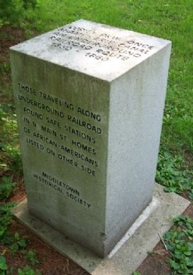 Underground Railroad Route Marker Photo, Click for full size