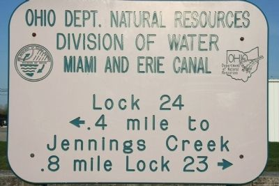 Miami and Erie Canal Marker image. Click for full size.