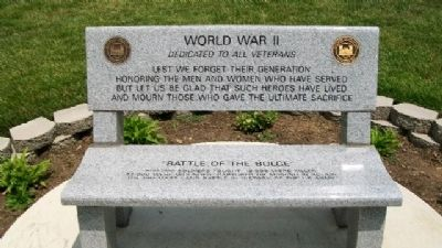 World War II Veterans Memorial Bench image. Click for full size.