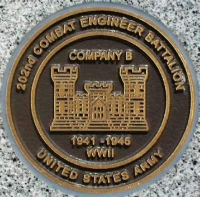 Co B 202nd Cmbt Engr Bn Medallion image. Click for full size.