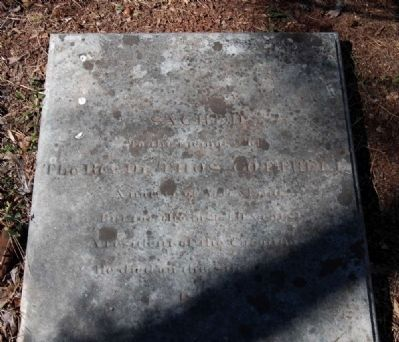 Rev. Dr. Thomas Cottrell Tombstone image. Click for full size.