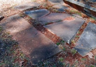 Tabernacle Cemetery -<br>Damaged Tombstones image. Click for full size.