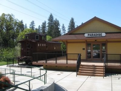 Old Paradise Depot and The B.C.R.R. Caboose image. Click for full size.