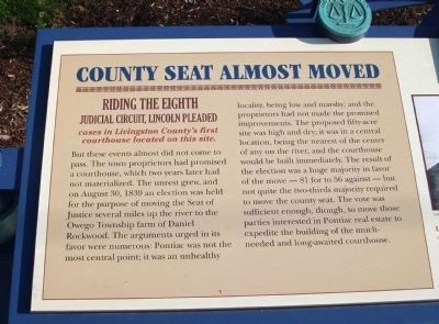 Left Section - - County Seat Almost Moved Marker image. Click for full size.