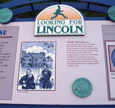 Middle Section - - Lincoln Wins His Case Marker image. Click for full size.