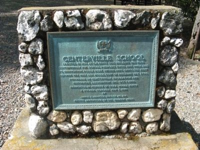 Centerville School Marker image. Click for full size.