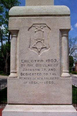 LaFayette-Jackson Twp Civil War Memorial [south face] Photo, Click for full size