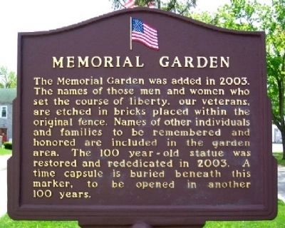 LaFayette-Jackson Twp Memorial Garden Marker (Side B) Photo, Click for full size
