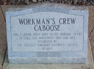 Workman's Crew Caboose Marker image. Click for full size.