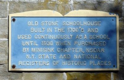 Old Stone Schoolhouse Marker image. Click for full size.