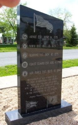Harrod Veterans Memorial Park Marker (Back) Photo, Click for full size