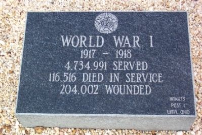 Harrod Veterans Memorial Park Marker Photo, Click for full size