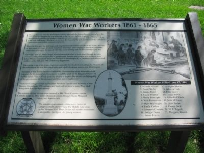 Women War Workers 1861 - 1865 Marker image. Click for full size.