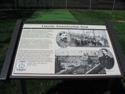 Lincoln Assassination Trial Marker image. Click for full size.