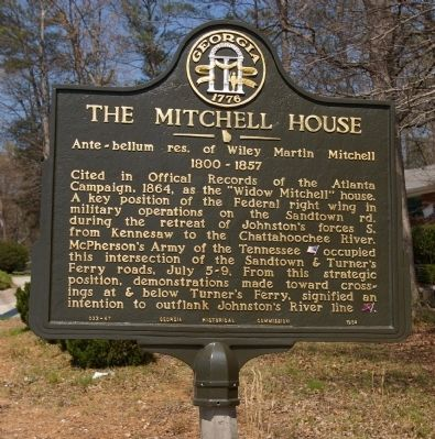 The Mitchell House Marker image. Click for full size.