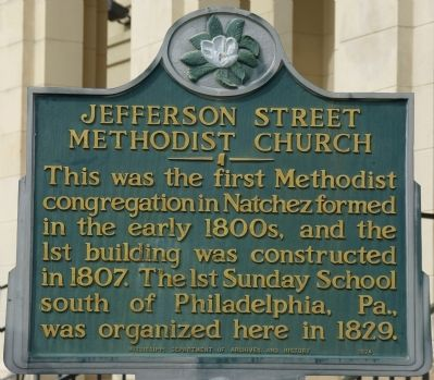 Jefferson Street Methodist Church Marker image. Click for full size.