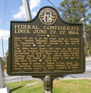 Federal, Confederate Lines, June 22, 27, 1864. Marker image. Click for full size.