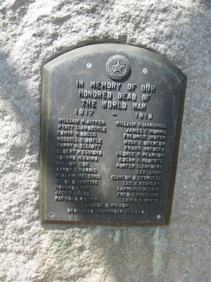 Chico World War I Memorial Marker image. Click for full size.