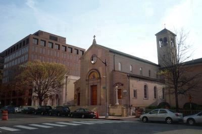 The Holy Rosary Catholic Church and the Casa Italiana Hall and Cultural Center (left) image. Click for full size.