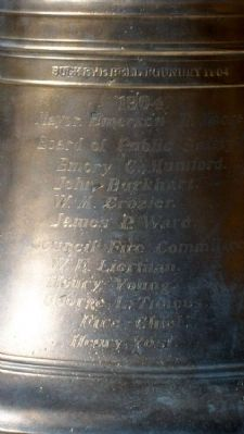 Sidney Fire Bell Names image. Click for full size.