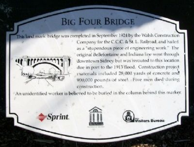 Big Four Bridge Marker image. Click for full size.