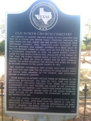 Old North Church Cemetery Marker image. Click for full size.
