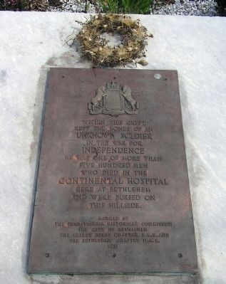 The Unknown Soldier Plaque image. Click for full size.