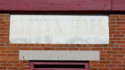 Carey's Hall Name Marker image. Click for full size.