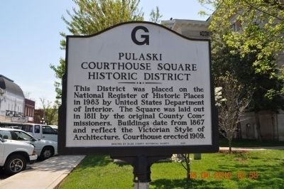Pulaski Courthouse Square Historic District Marker image. Click for full size.